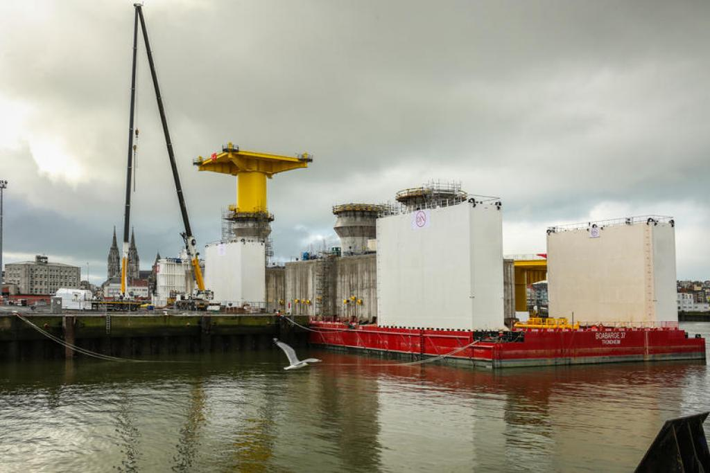 Next phase in constructing gigantic foundations for Kriegers Flak wind farm