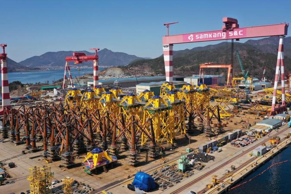 Fabrication of the jacket foundations for TPC Changhua Offshore Wind Farm