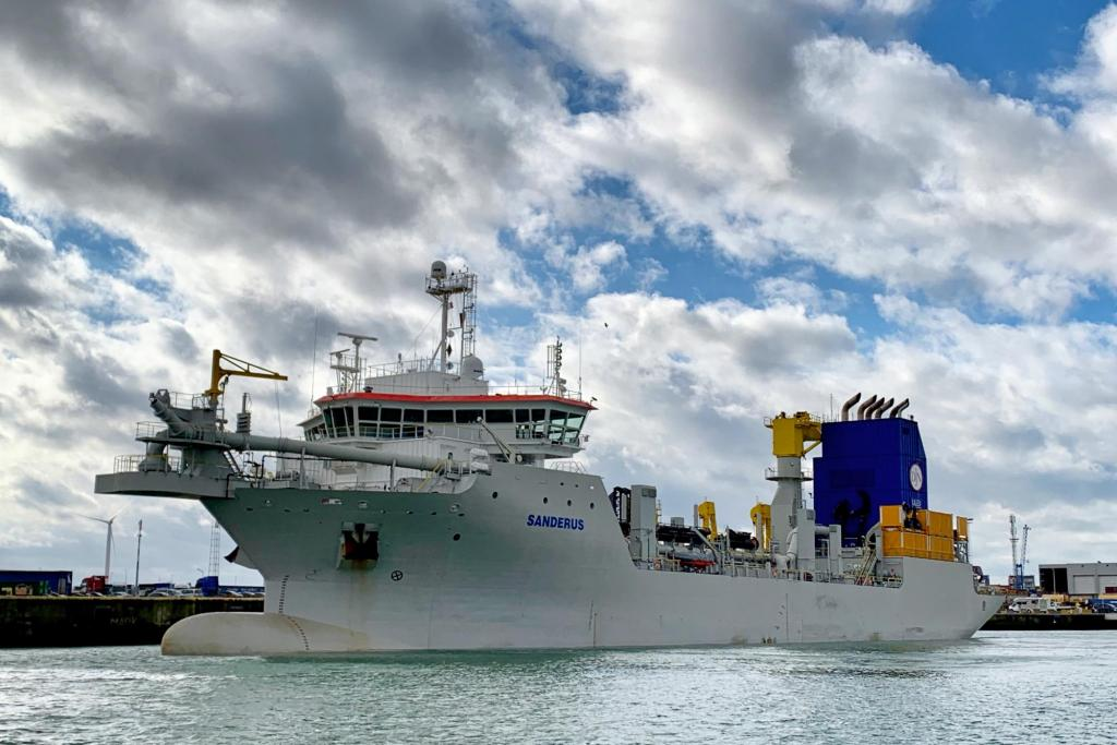 Ultra-Low Emission vessel Sanderus arrived in Zeebrugge Belgium