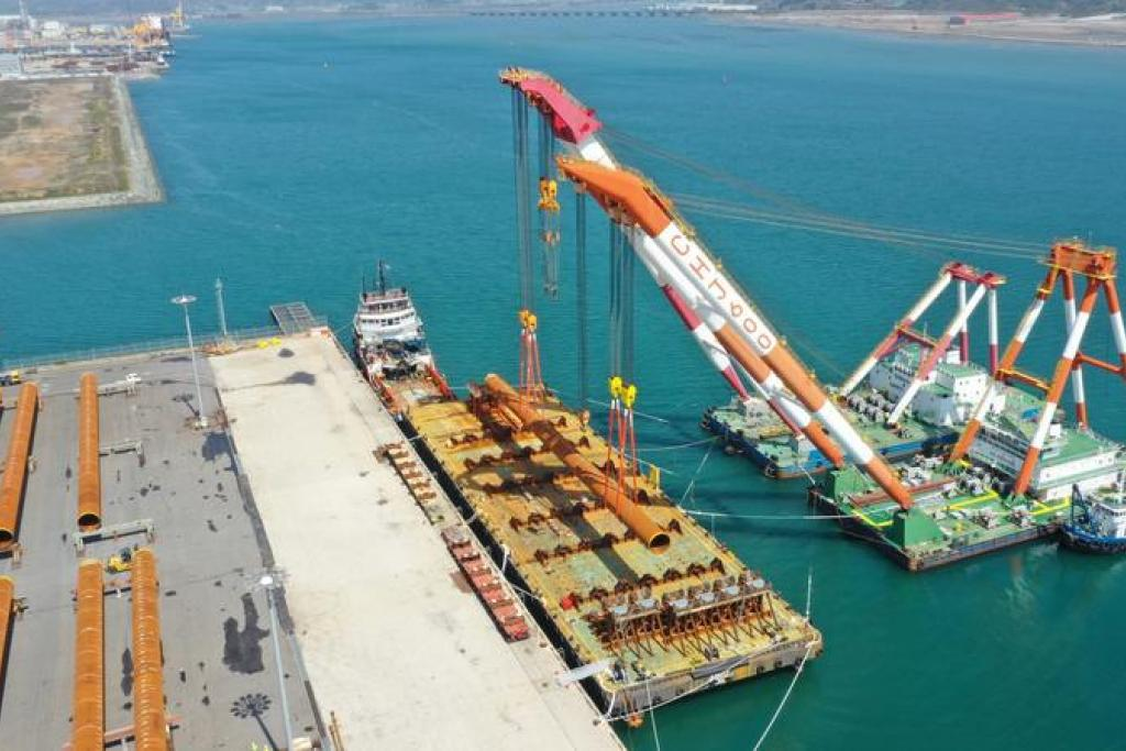 First batch of pin piles loaded for TPCs Offshore Wind Farm in Taiwan