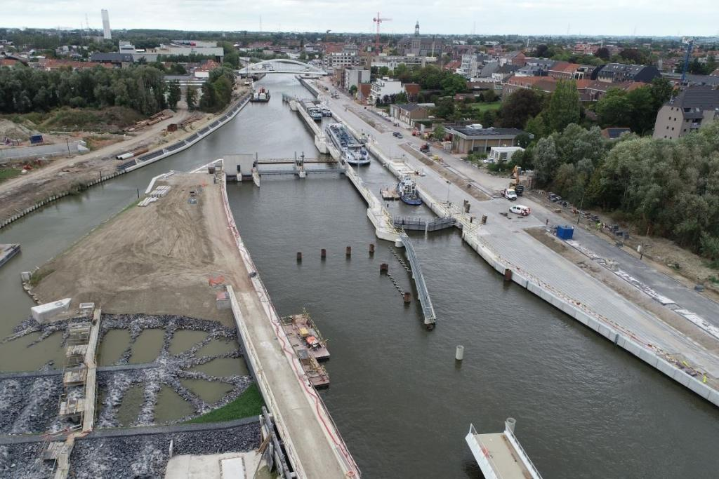 Jan De Nul completes water infrastructure works in Harelbeke, Belgium