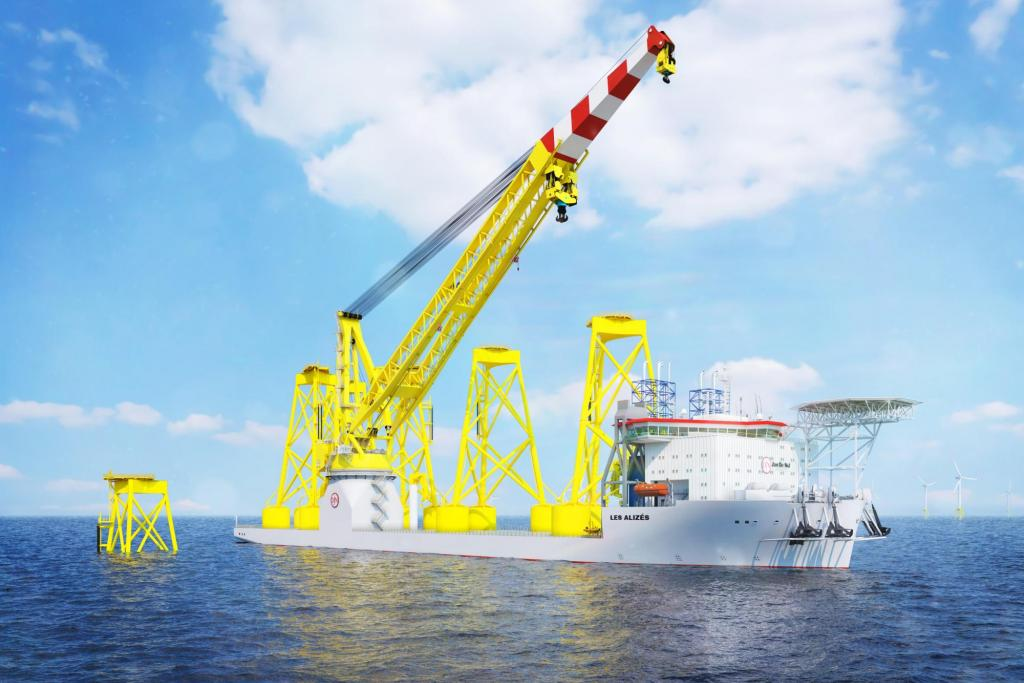 Jan De Nul orders second next generation offshore installation vessel Les Alizés