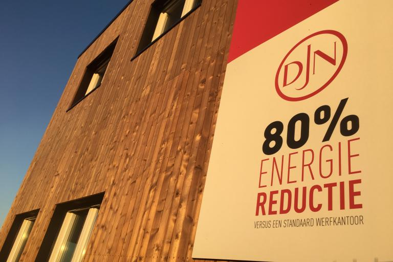 Sustainable and energy efficient construction shed of Jan De Nul Group