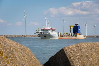 ULEv Sanderus in the Port of Zeebrugge
